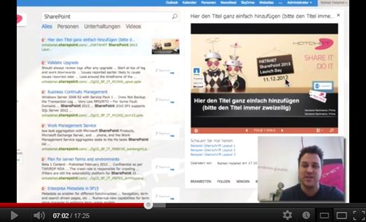 Neue Suchmöglichkeiten in SharePoint 2013 (HATAHET, Screencast)