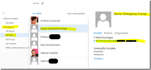 04 SharePoint 2013 App Websitepostfach, Sitemailbox Mailuser in Exchange Verzeichnis, Office 365, SharePoint Online (HATAHET)