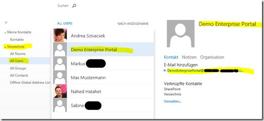 04 SharePoint 2013 App Websitepostfach, Sitemailbox Mailuser in Exchange Verzeichnis, Office 365, SharePoint Online (HATAHET)