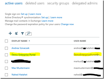 05 SharePoint 2013 App Websitepostfach, Sitemailbox Eigene User im Cloud Active Directory, Office 365, SharePoint Online (HATAHET)