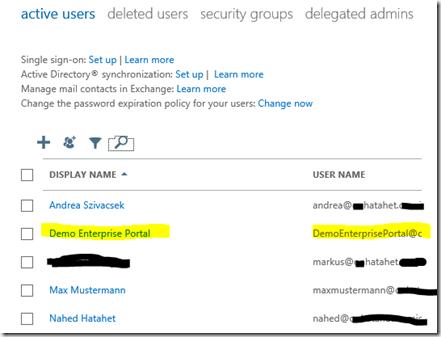 05 SharePoint 2013 App Websitepostfach, Sitemailbox Eigene User im Cloud Active Directory, Office 365, SharePoint Online (HATAHET)
