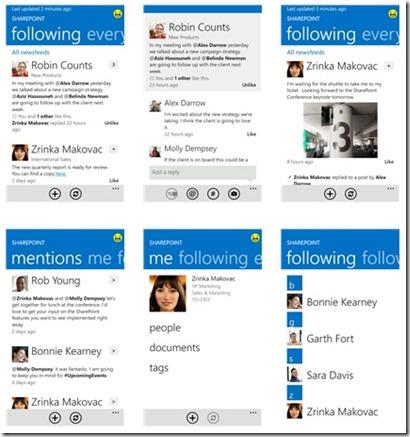 SharePoint 2012 Konferenz Las Vegas und SharePoint 2013 Mobile, Windows 8 Newsfeed App Screeenshots (HATAHET) 05