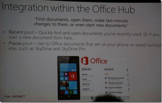 SharePoint 2012 Konferenz Las Vegas und SharePoint 2013 Mobile, Windows Phone 8 Office Hub (HATAHET) 07
