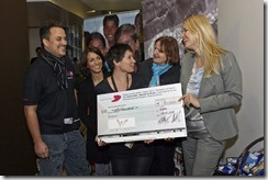 SharePoint 2013 Launch Day bei Microsoft, Claudia Stöckl, ZUKI, Übergabe Spendenscheck (HATAHET)