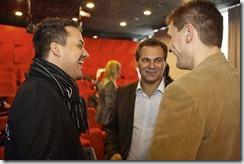 SharePoint 2013 Launch Day bei Microsoft, Nahed Hatahet (HATAHET), Hans Berndl (Microsoft), Georg Obermeier (Geschäftsführer, Microsoft Österreich) (HATAHET)