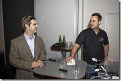 SharePoint 2013 Launch Day bei Microsoft, Peter Hanke (Microsoft) mit Nahed Hatahet (HATAHET) über die professionelle Zusammenarbeit