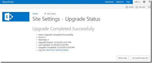 Migration Upgrade von SharePoint 2010 nach SharePoint 2013 Schemaupgrade Websitesammlung Upgrade 007 (HATAHET)