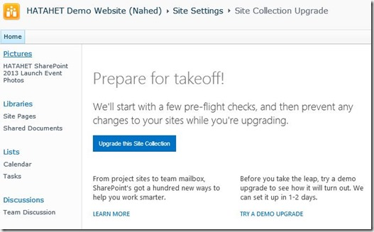 Migration Upgrade von SharePoint 2010 nach SharePoint 2013 Schemaupgrade Websitesammlung Upgrade 002 (HATAHET)