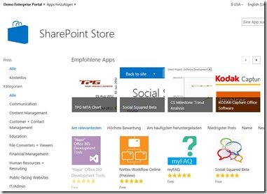 SharePoint App Store, SharePoint Apps, SharePoint 2013, Office 365 Online Services (HATAHET) 002