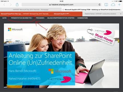 Office 365 SharePoint Online, SharePoint 2013, Apple Browser Integration Screenshot 3 (HATAHET)