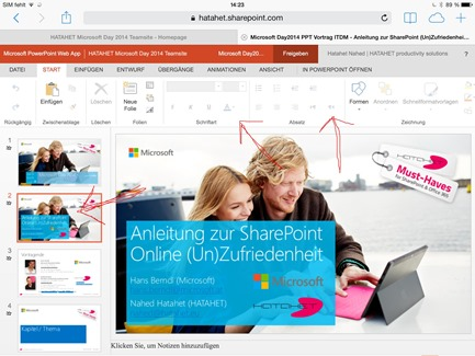 Office 365 SharePoint Online, SharePoint 2013, Apple Browser Integration Screenshot 4 (HATAHET)