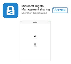 Office 365 SharePoint Online, SharePoint 2013, Apple Store, Microsoft Apps 003 Rights Management App (HATAHET)