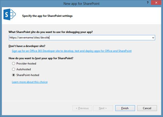 SharePoint 2013 Bloglog, Visual Studio New project (HATAHET)