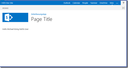 SharePoint 2013 Bloglog, App Page Title