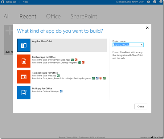 SharePoint 2013 Bloglog, NAPA App for SharePoint