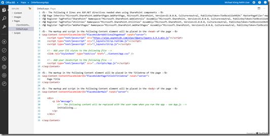SharePoint 2013 Bloglog, SharePoint NAPA Default_aspx App
