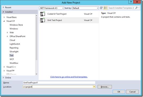 SharePoint 2013, Bloglog, Unit Test Project