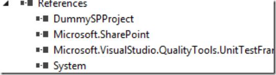 SharePoint 2013, Bloglog, Unit Test References