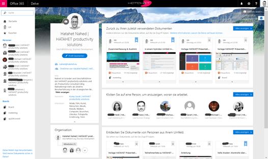 Office Delve Dashboard für hybriden Einsatz mit SharePoint 2016 (HATAHET, NaHa)