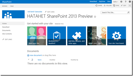HATAHET SharePoint 2013 Demo Site Screenshot Teamsite Template (HATAHET, Nahed)