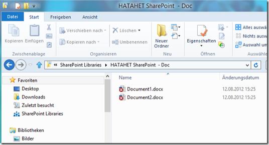 HATAHET SharePoint 2013 Preview, Sky Drive Pro Funktionalität, Sync 3 (HATAHET, NaHa)