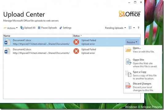 HATAHET SharePoint 2013 Preview, Sky Drive Pro Funktionalität, Sync 4, Upload Center Office 2013, 2 (HATAHET, NaHa)