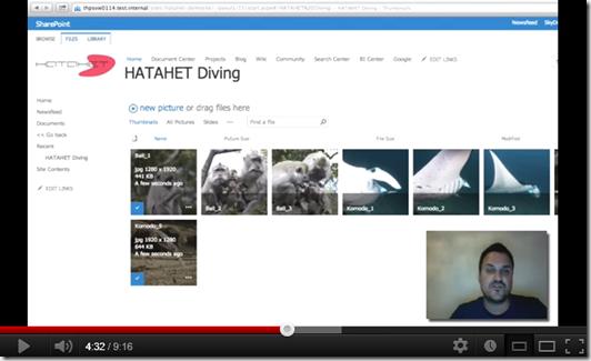 HATAHET SharePoint 2013 Screencast Working with the Picture Library on Apple OSX and Safari, Arbeiten mit Bildbibiotheken