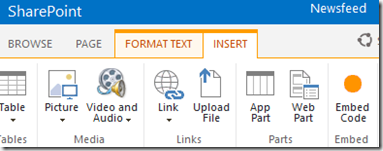 HATAHET SharePoint 2013 Preview, Arbeiten mit Embed Code, Screenshot01