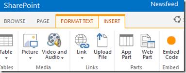 HATAHET SharePoint 2013 Preview, Arbeiten mit Embed Code, Screenshot01