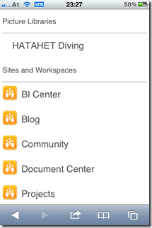 SharePoint 2013 Blog, Mobile Devices Support, Unterstützung, iPhone, Apple, Safari Screenshot02 (HATAHET)