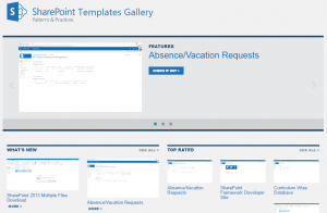 SharePoint Templates Gallery