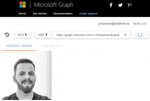 Microsoft Graph Explorer Screenshot