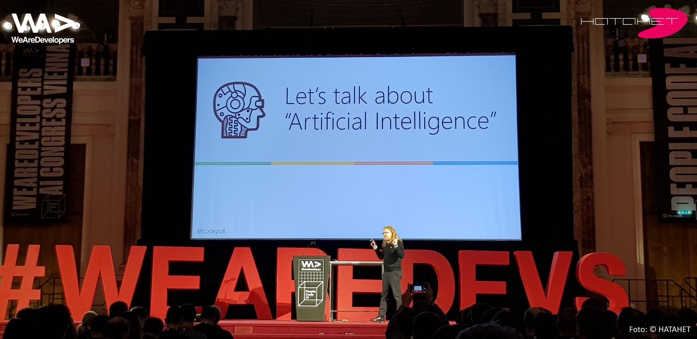 Christian Heilmann auf dem WeAreDevelopers AI Congress Vienna 2018